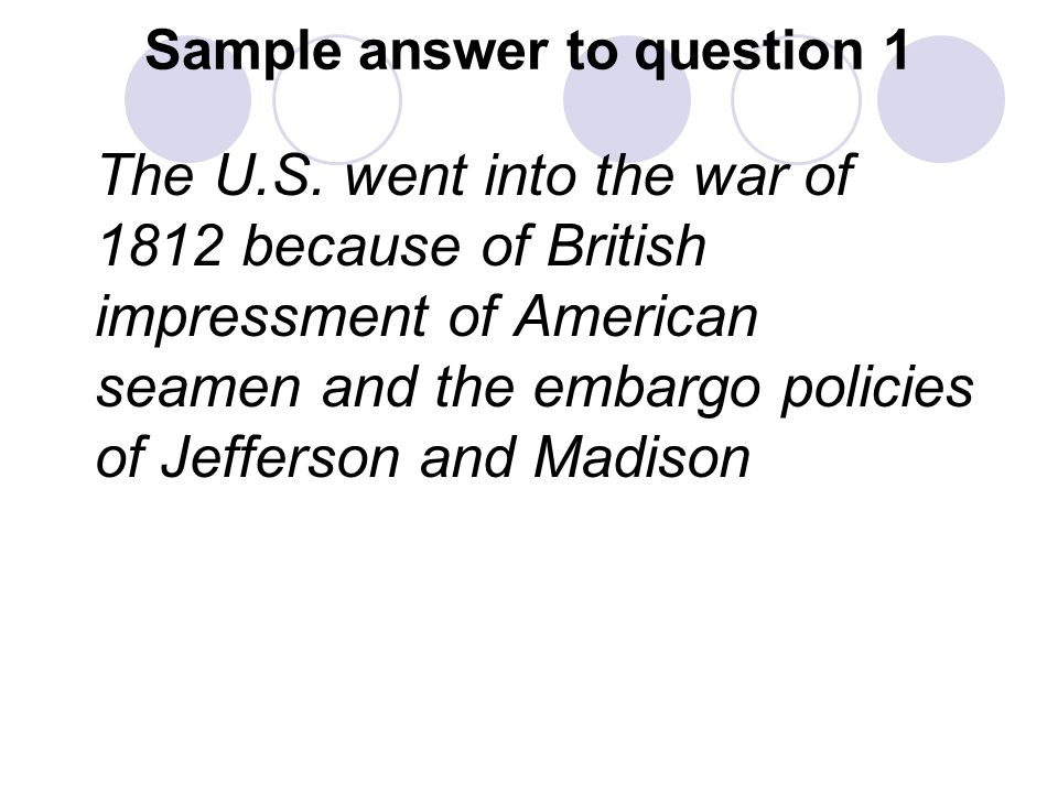 causes of war of 1812 essay