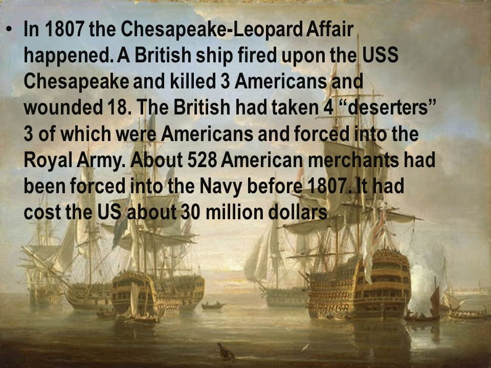  When the War of 1793 between France and Britain began the United States became afraid that there would be restrictions on their trade.