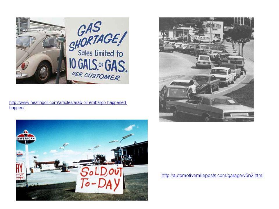 http://www.heatingoil.com/articles/arab-oil-embargo-happened- happen/ http://automotivemileposts.com/garage/v5n2.html