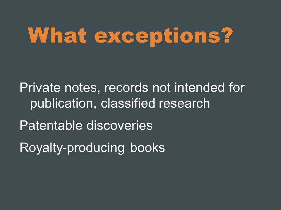 What exceptions.