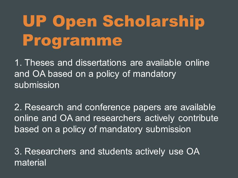 UP Open Scholarship Programme 1.