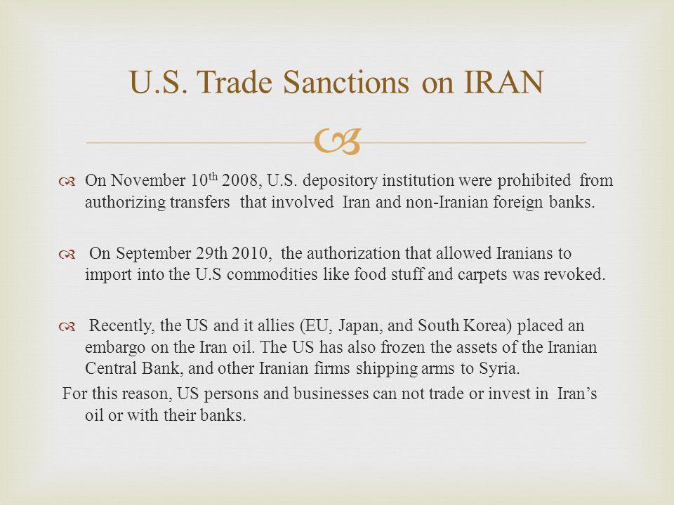  On November 10 th 2008, U.S.