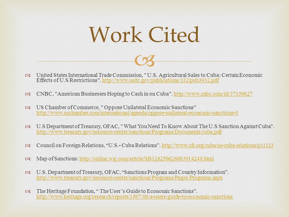   United States International Trade Commission, U.S.