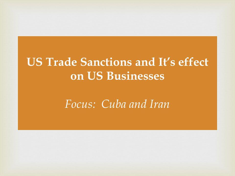  US Trade Sanctions on CUBA