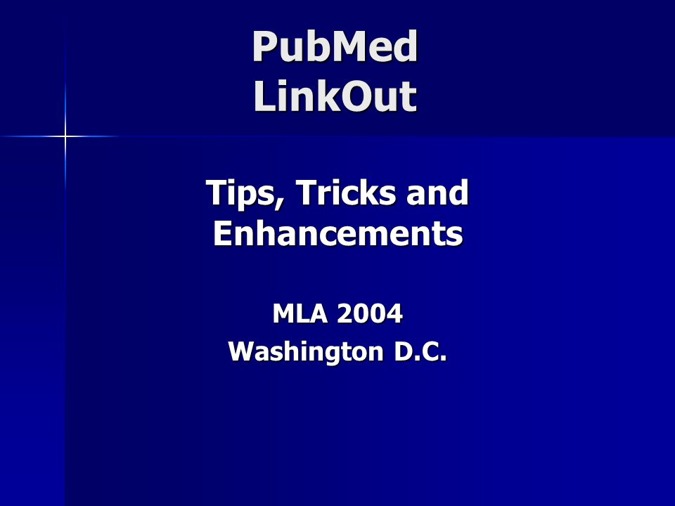 LinkOut Enhancements Statistics have been updated LinkOut Total: total full-text and print accesses LinkOut Full-Text: number of times users click on your library's online full-text icon LinkOut Print: number of times users click on your library's print collection icon holding=[library username] - number of times users access PubMed using the PubMed URL with your username Statistics are also available in text version for export NOTE: Statistics don't track the number of users or IPs.