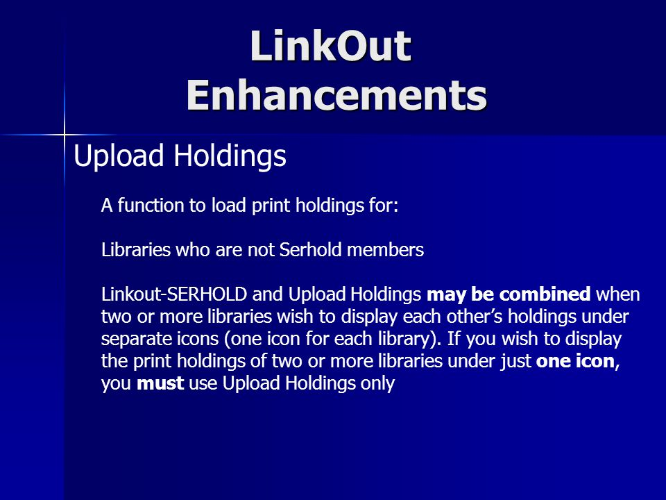 LinkOut Enhancements Select Cancellation