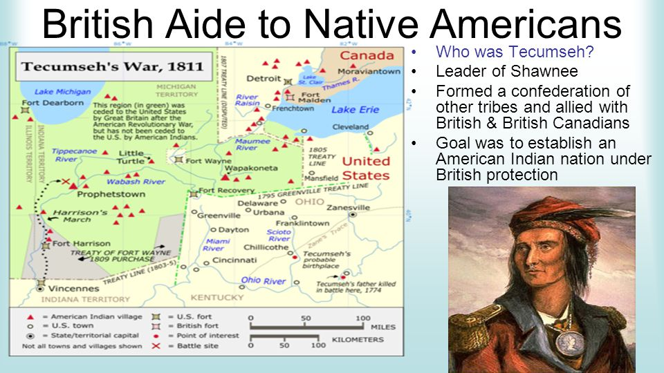 British Aide to Native Americans Who was Tecumseh.