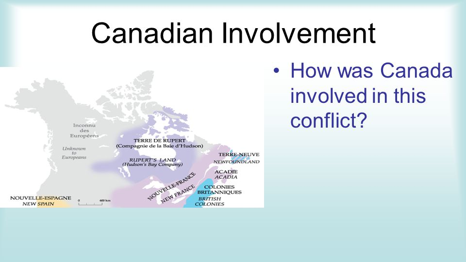 Canadian Involvement How was Canada involved in this conflict