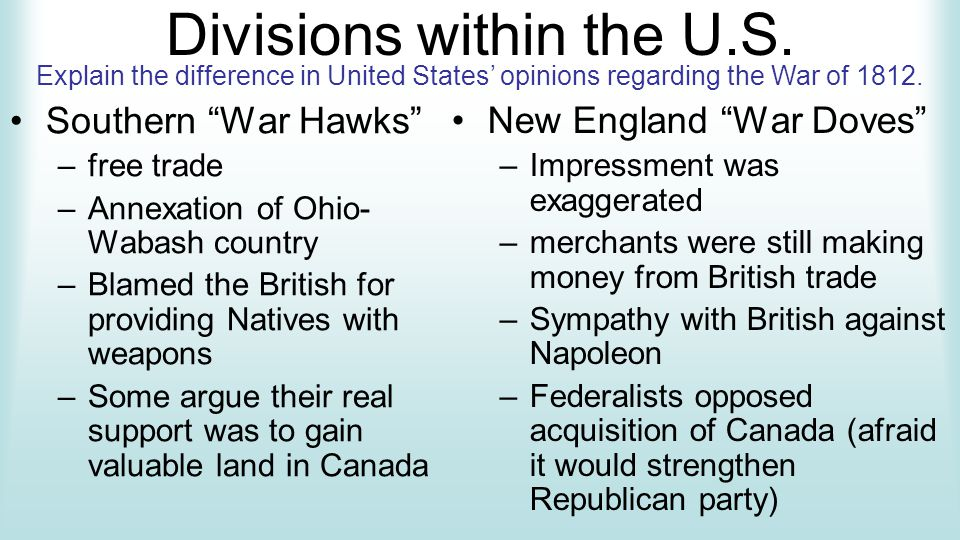 Divisions within the U.S.
