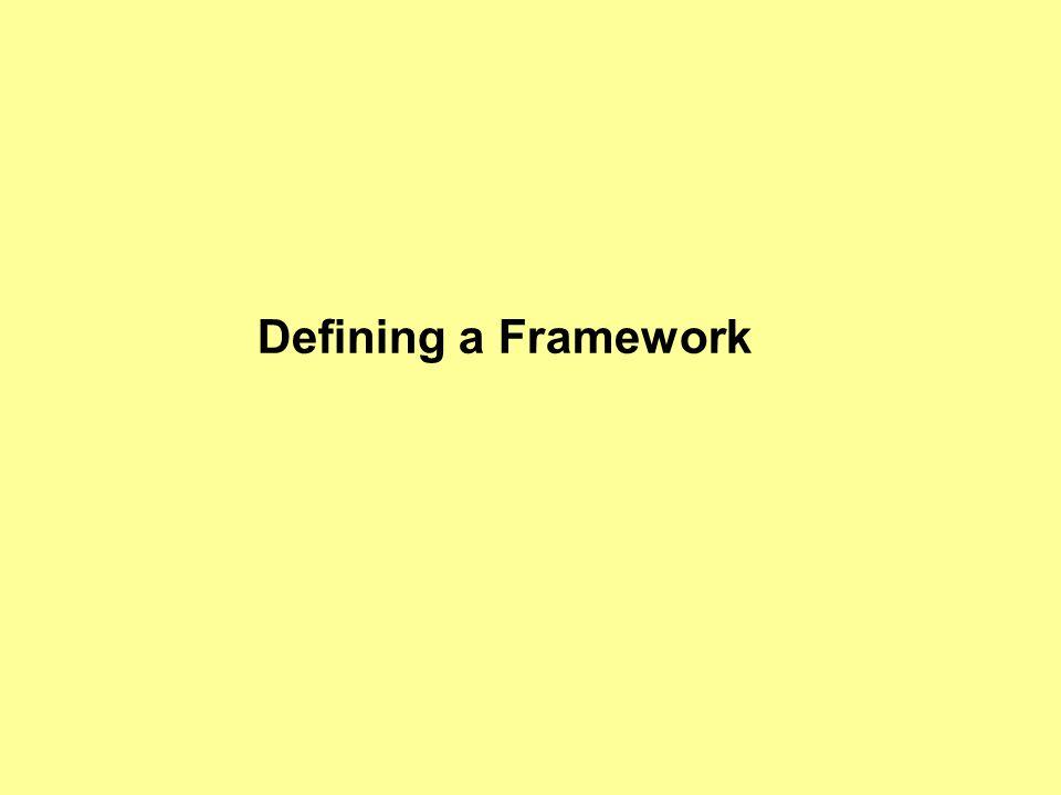 Defining a Framework