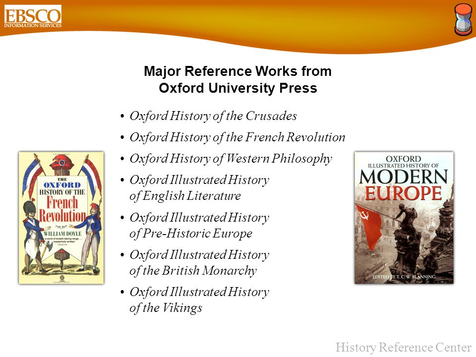 History Reference Center 32 Full Text History Books from Lerner Publishing, including: Ancient Agriculture Ancient Communication Ancient Construction Ancient Medicine Ancient Transportation Ancient Warfare Echoes of World War II Salem Witch Trials