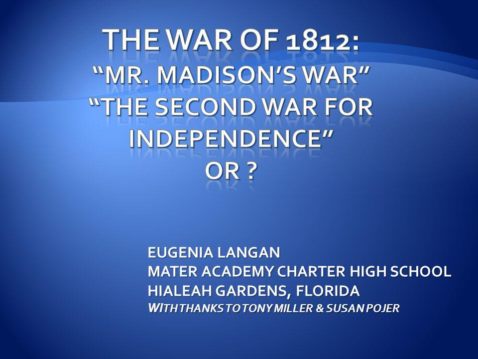 EUGENIA LANGAN MATER ACADEMY CHARTER HIGH SCHOOL HIALEAH GARDENS, FLORIDA WI TH THANKS TO TONY MILLER & SUSAN POJER