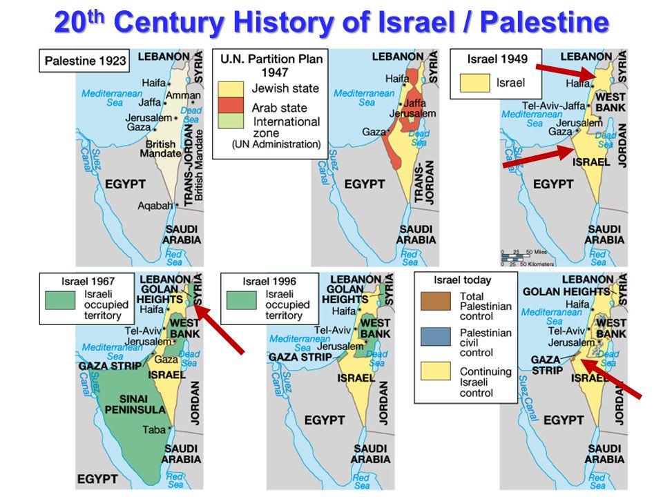 20 th Century History of Israel / Palestine