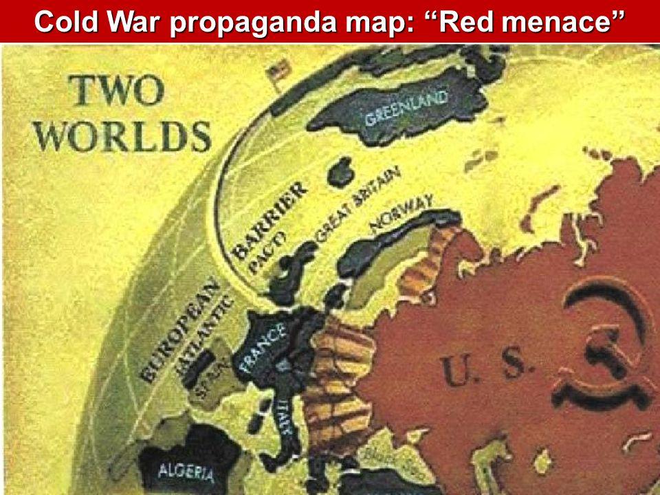 Cold War propaganda map: Red menace