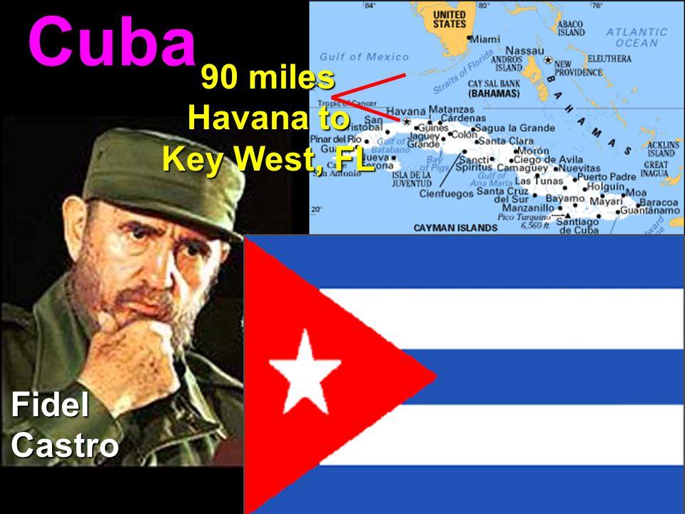 Cuba Cuba 90 miles Havana to Key West, FL FidelCastro