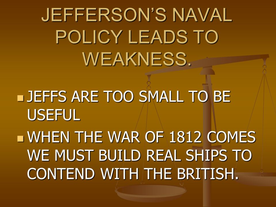 Evaluating Jefferson Positives Expands the size of the United States.