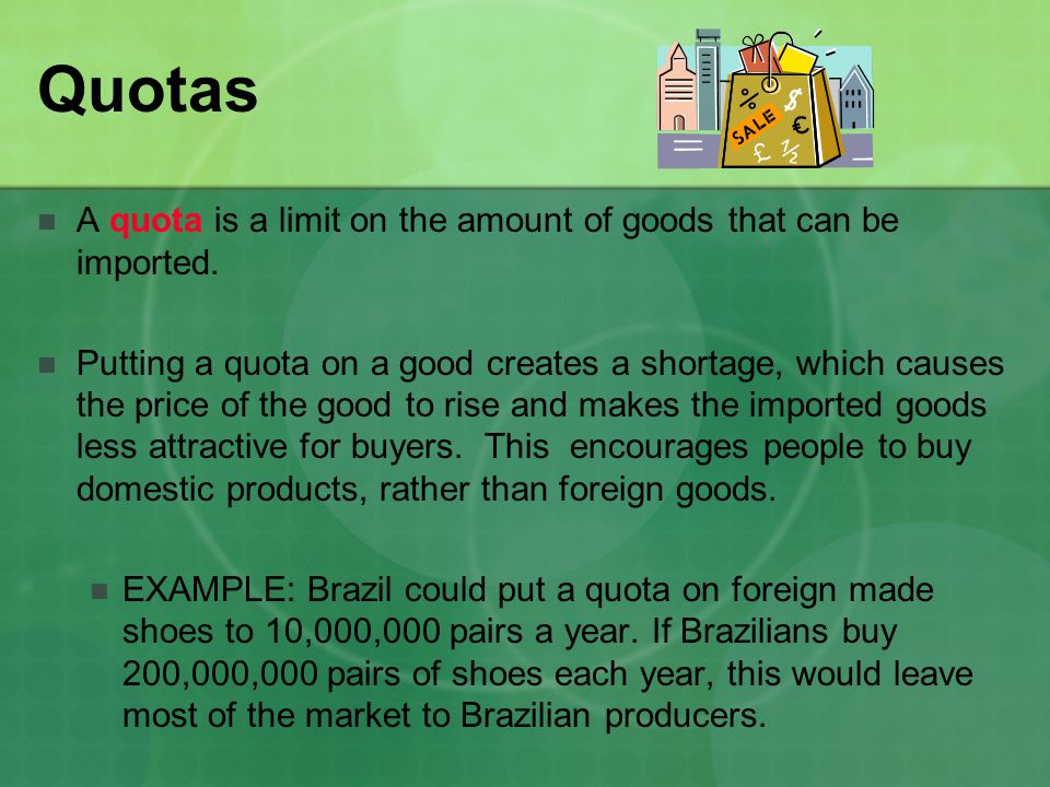 Embargos Embargos are government orders which completely prohibit trade with another country.
