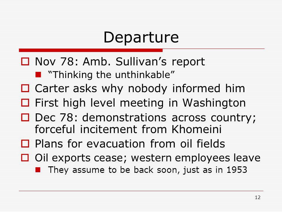 12 Departure  Nov 78: Amb.
