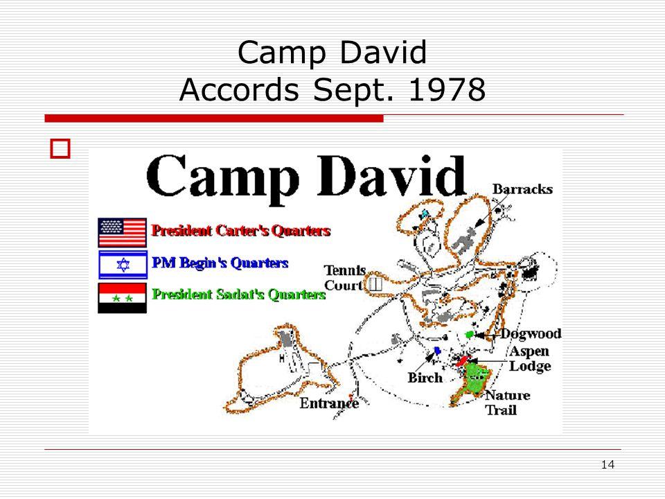 14 Camp David Accords Sept. 1978 