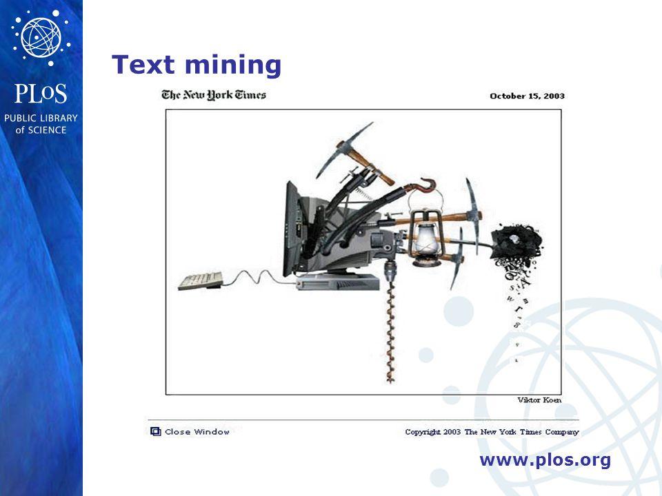 www.plos.org Text mining
