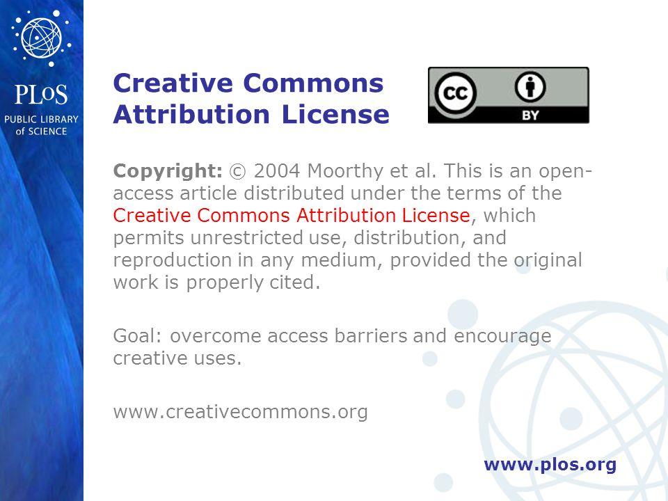 www.plos.org Creative Commons Attribution License Copyright: © 2004 Moorthy et al.
