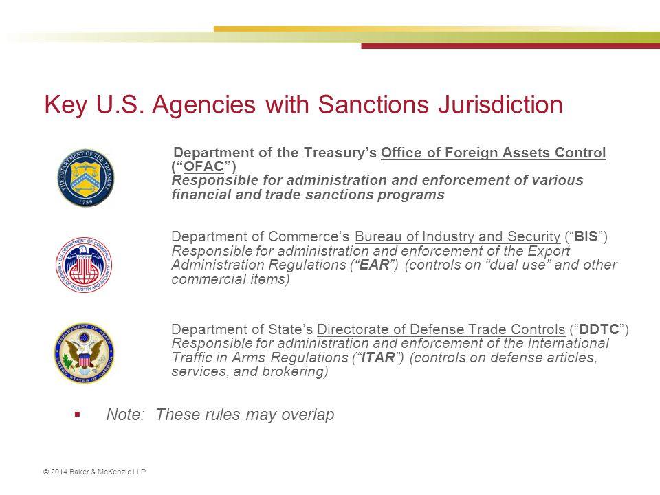 © 2014 Baker & McKenzie LLP U.S.Trade Sanctions ‒ Targets of U.S.
