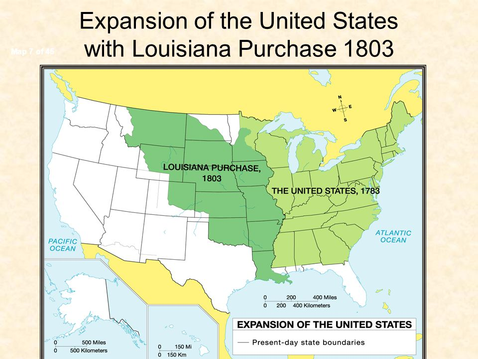 Map 7 of 45 Expansion of the United States with Louisiana Purchase 1803