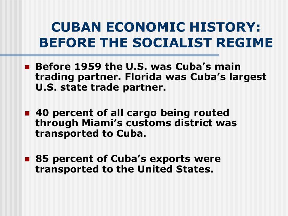 ECONOMIC BENEFITS OF LIFTING U.S. SANCTIONS ON CUBA FOR THE U.S.