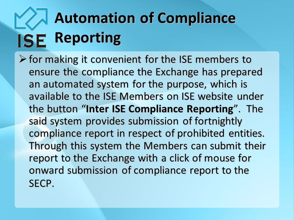 Member -Submit Compliance Report from website -Receive confirmation email.