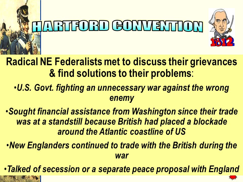 Radical NE Federalists met to discuss their grievances & find solutions to their problems : U.S.