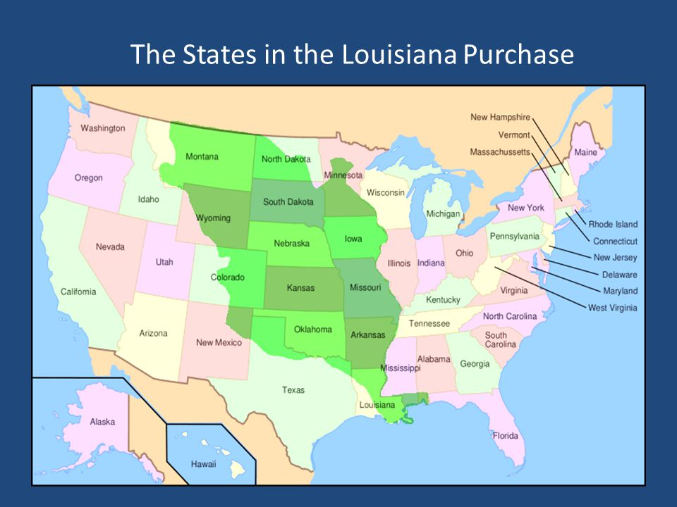 The States in the Louisiana Purchase