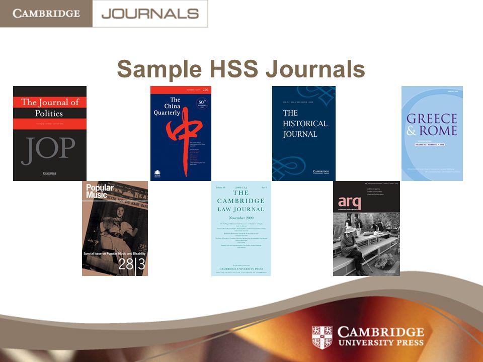 Sample HSS Journals