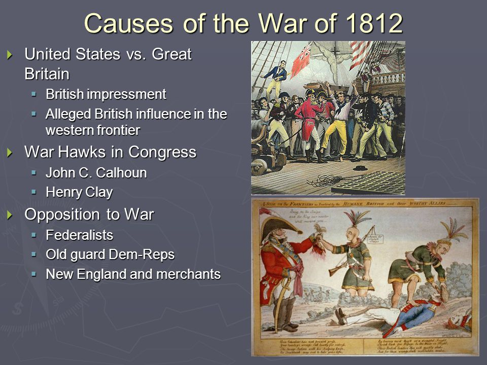 Causes of the War of 1812  United States vs.
