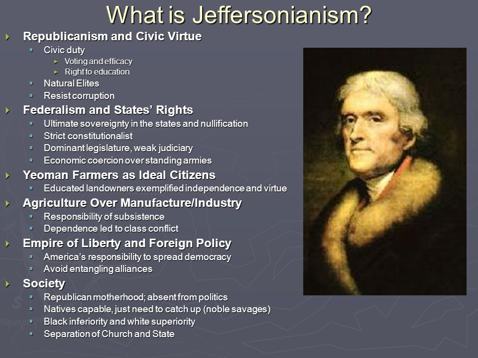 What is Jeffersonianism.