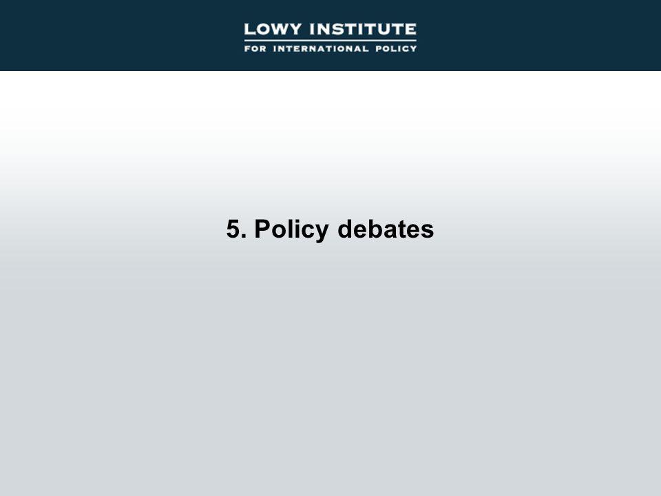 5. Policy debates