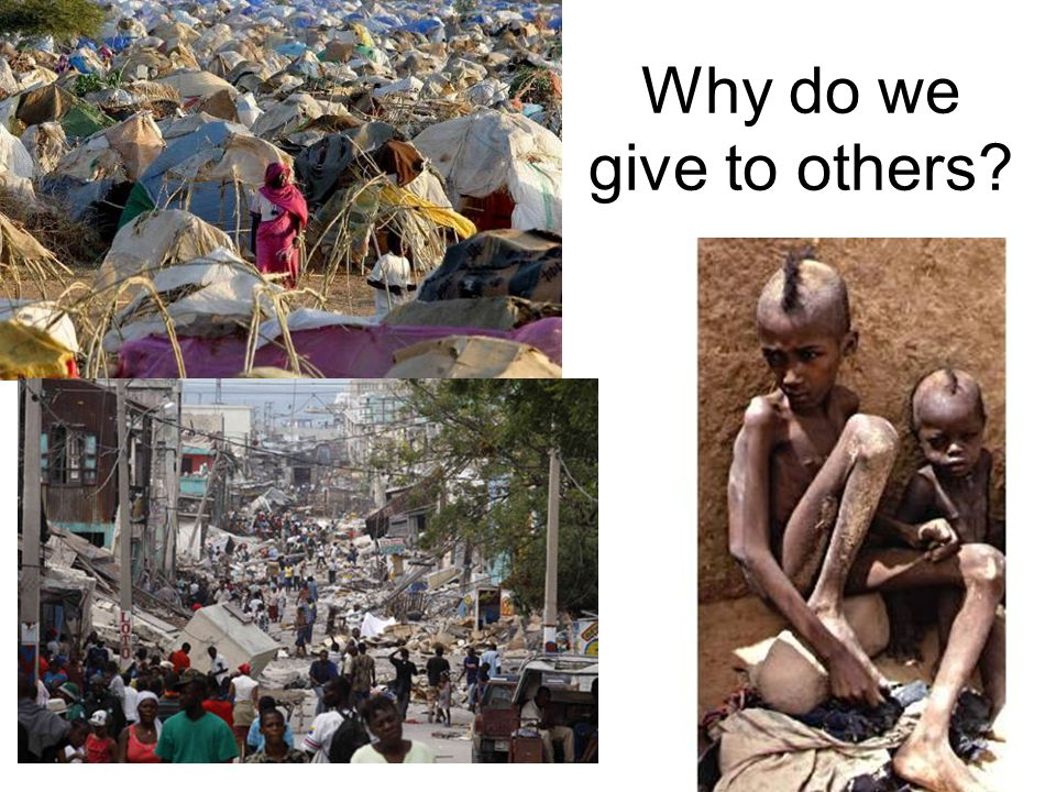 Why do we give to others?