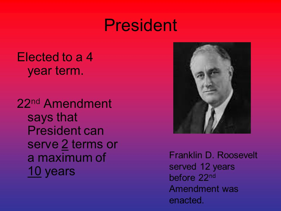 Presidential Succession The 25 th Amendment established Presidential Succession- the order in which we replace the President