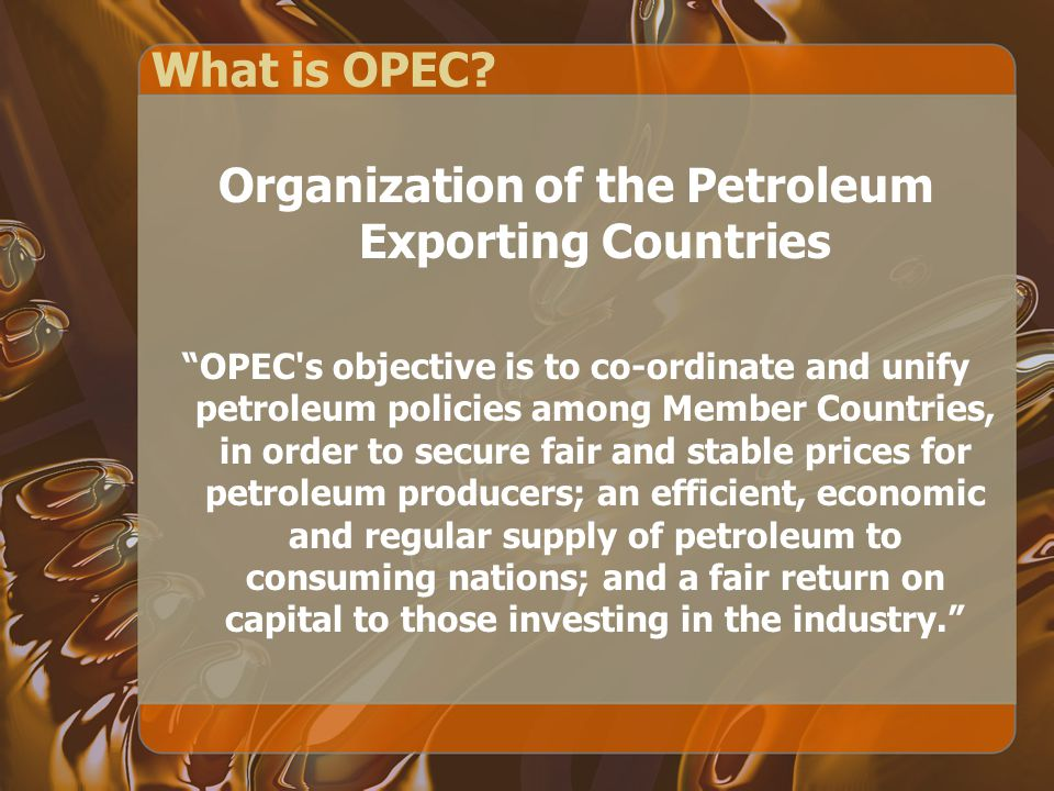 What is OPEC.