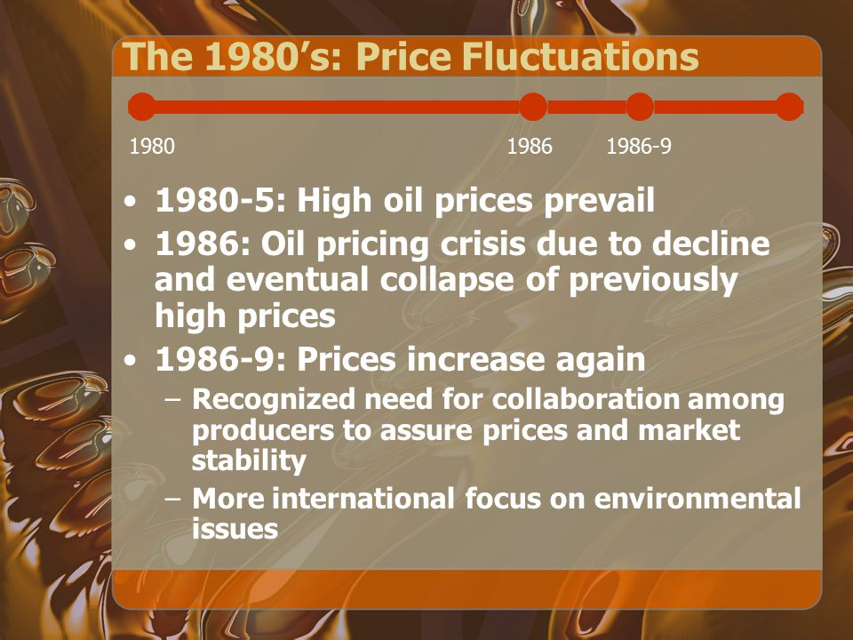 The 1970's: Rise to Power Obtained power over petroleum prices by controlling domestic production 1971: Nigeria joins –OPEC enters into price and tax