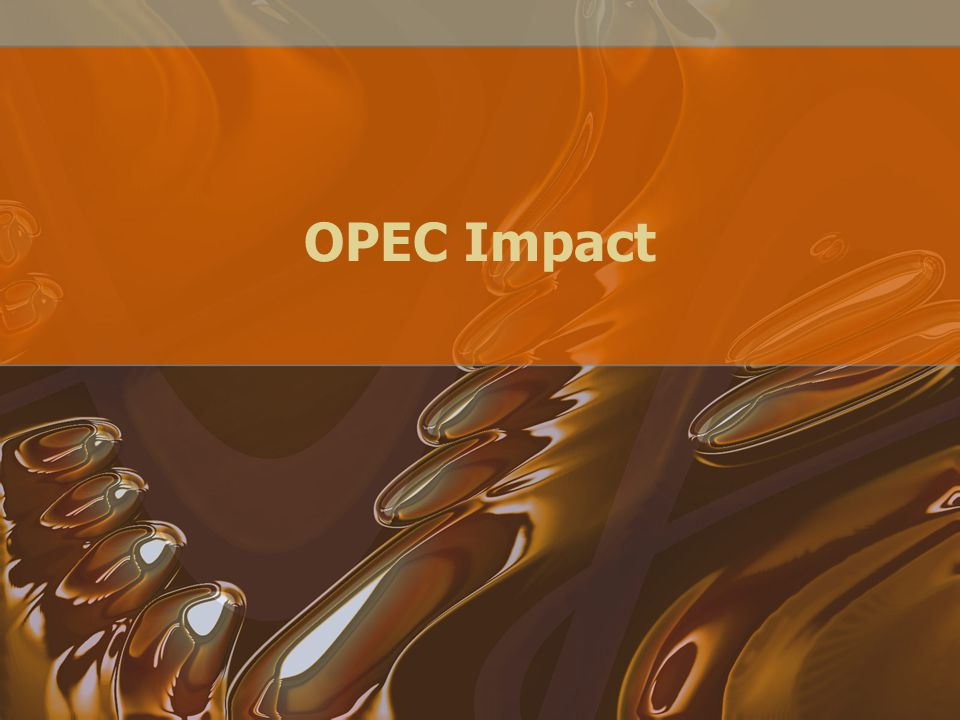 "Relations? History elucidates the motives behind much of the production policy set forth by OPEC The ""oil weapon"" has real and lasting effects on the"