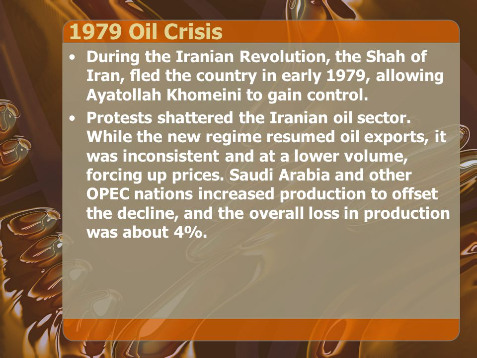Effects of 1973 Oil Crisis The Western nations' central banks sharply cut interest rates to encourage growth, deciding that inflation was a secondary