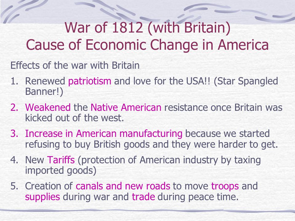 political and economic changes after the war of 1812 essay Start studying apush unit 3 leq factors in bringing on the war of 1812, but the political pressure at a federal economic policy changes in.