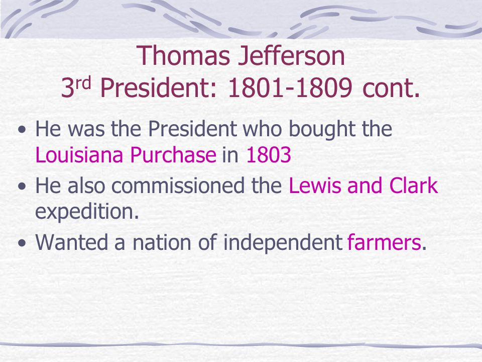 The Lewis & Clark Expedition 1803-1805 Hired by Thomas Jefferson to explore the territory we gained in the Louisiana Purchase During their exploration L&C got help from the natives Traveled up the Missouri River, explored the Rocky Mountains, and the Columbia River Went through the territory that would eventually become the states of Missouri, Montana, and Washington (M-M-W).