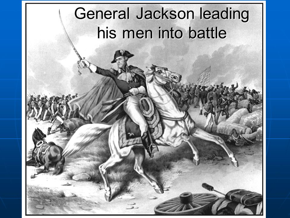 General Jackson leading his men into battle