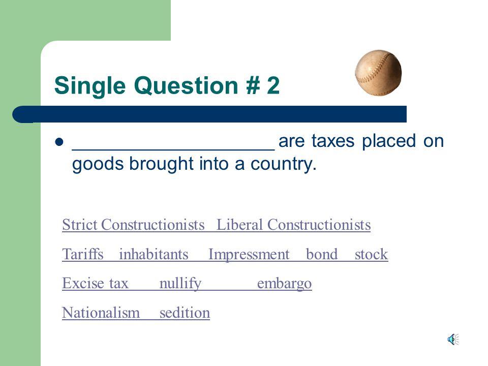 Answer James Madison