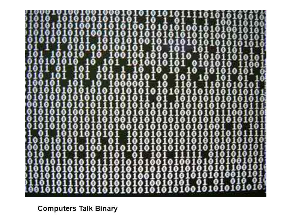Computers Talk Binary