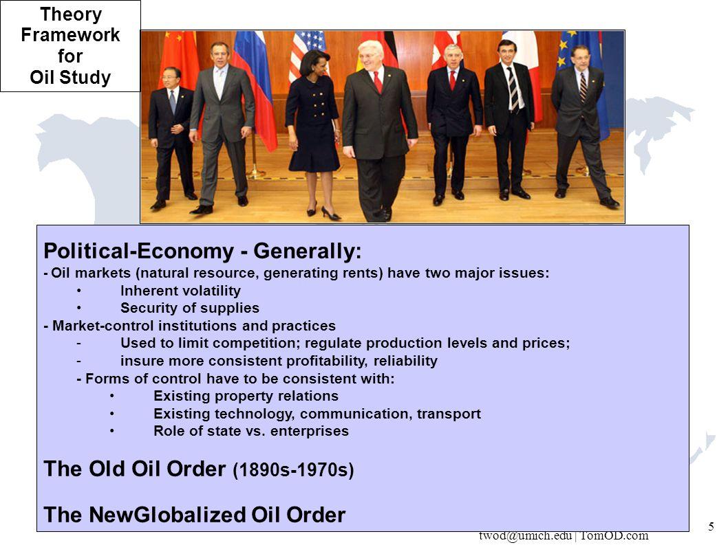 twod@umich.edu | TomOD.com 26 OIL SHOCK 1973 - Urgent need for US / OECD* regain control.