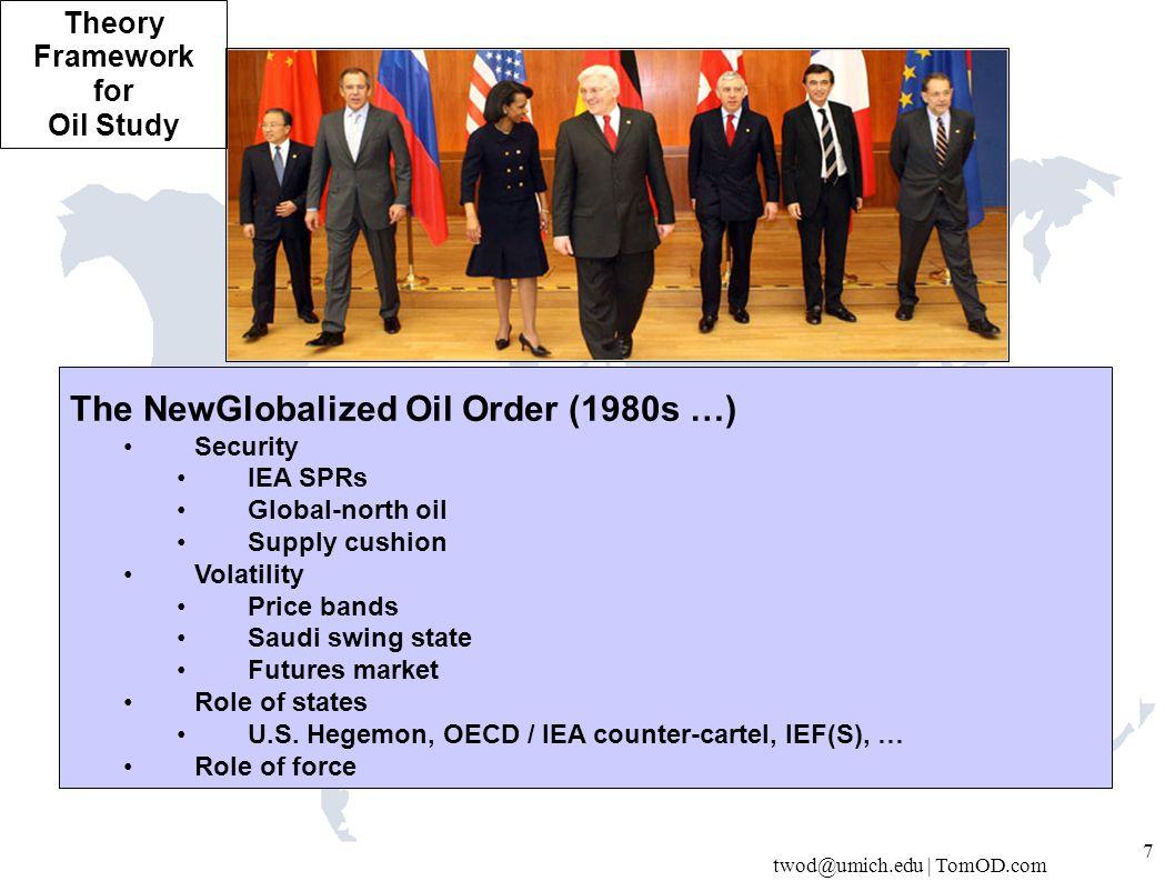 twod@umich.edu | TomOD.com 18 ASIDE: US 'Dependence'on Mid East.