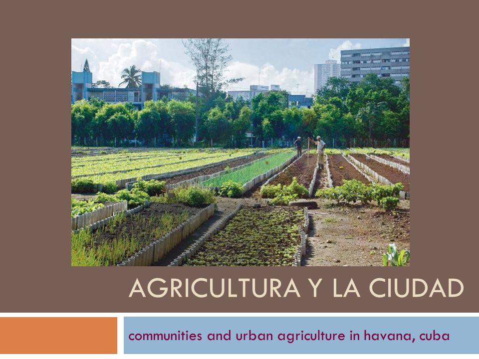 AGRICULTURA Y LA CIUDAD communities and urban agriculture in havana, cuba