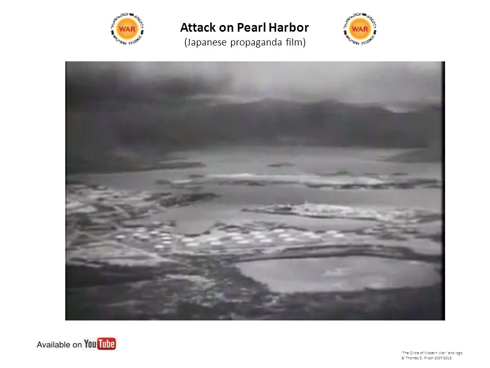 Attack on Pearl Harbor (Japanese propaganda film) The Circle of Modern War and logo © Thomas D.